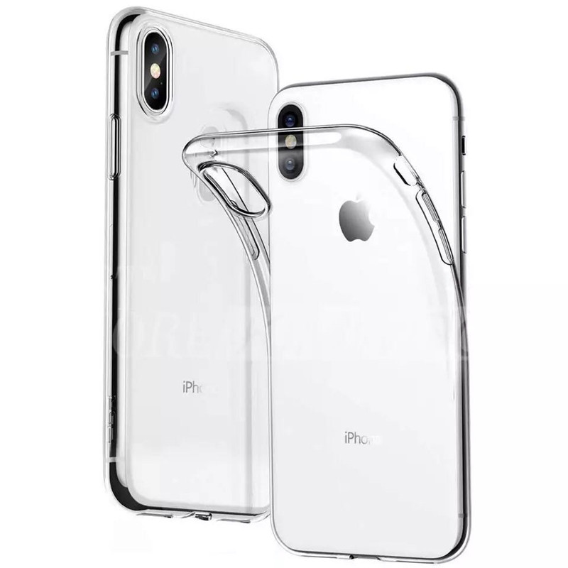 Transparent Mobile Phone Soft Shell For IPhone Case X XS XR XsMax 8 7Plus 6 6S Plus Back Cover Luxury For Iphone 7 Case