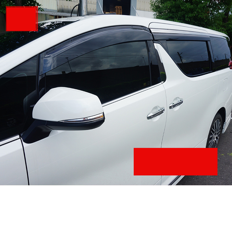 car-styling car window rain shield door visor for toyota alphard Toyota Vellfire 2011-2015 2015 2016 2017 2018 4pcs blade side windows deflectors door sun visor shield for toyota verso ez 2011 2014