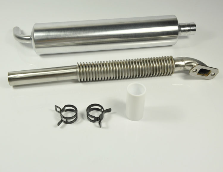 DLE55-60cc Universal Rear Exhaust Pipe Muffler Set For Fixed Wing RC Airplane Model