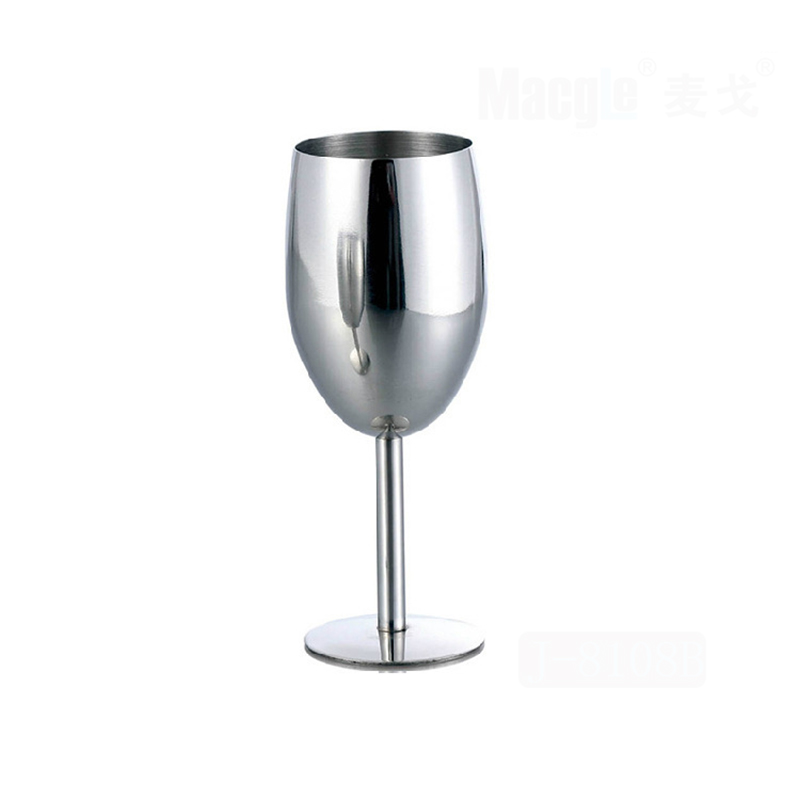 1pc stainless steel wine glass goblets high 17*6.2cm 250ml