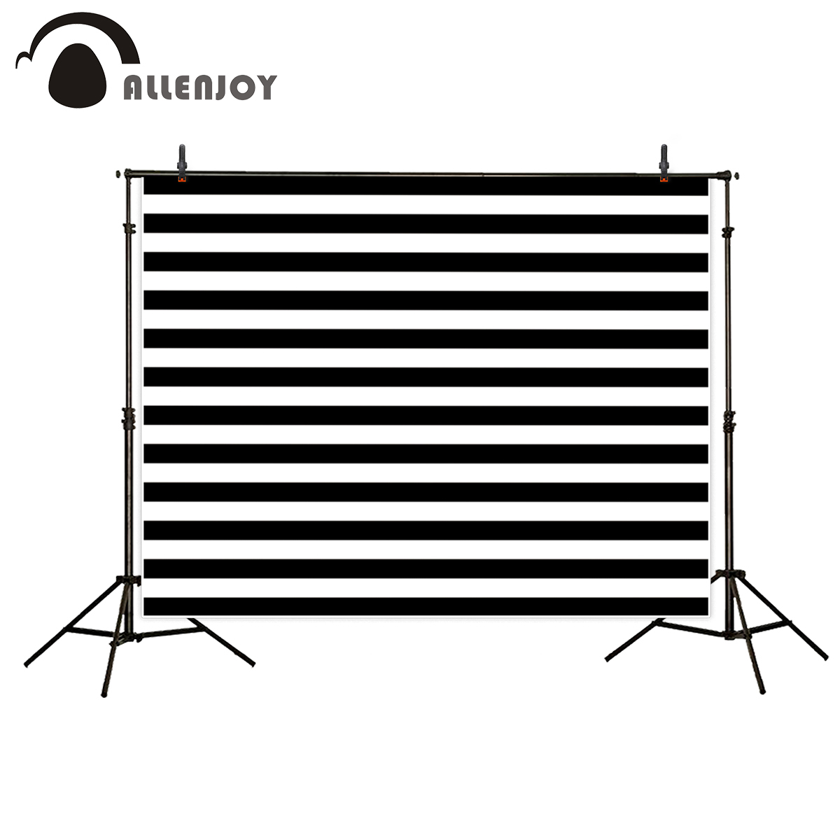 Allenjoy simple backdrop black and white stripes parallels Customize name and date Celebration photocall for photo studio allenjoy photo backdrop stars independence day stripes celebration fantasy props for newborn photobooth backdrop