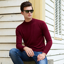 Winter Thick Warm Sweater Men Turtleneck Brand Mens Sweaters Slim Fit Pullover Men Knitwear Double collar