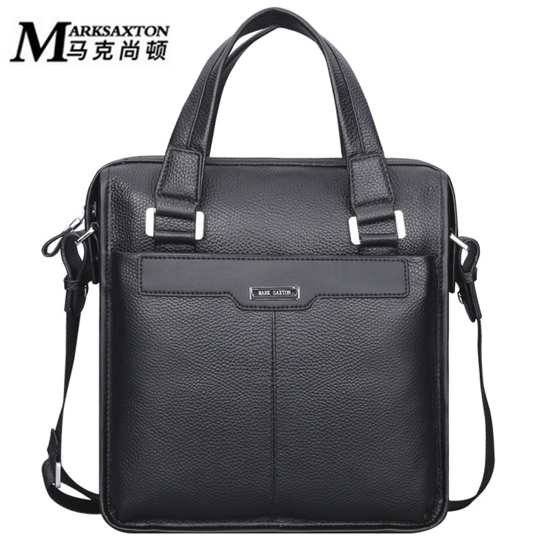 2018 New MARK SAXTON Brand Men bag Handbag Genuine leather men briefcase Business bag Cowhide leather Casual men Messenger bags padieoe men s genuine leather briefcase famous brand business cowhide leather men messenger bag casual handbags shoulder bags