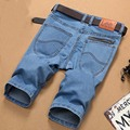 2016 Verão Plus Size Homens Jeans Masculino Famosa Marca de Jeans calções Calças Na Altura Do Joelho Metade Cortada Capris Dos Homens Calças Curtas calças