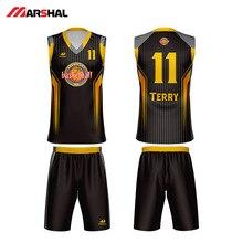 цена на Marshal Cheap Throwback Basketball Jersey Can Customized Breathable Quick Dry Basketball Uniform Shirts BASKET Sports JERSEYS