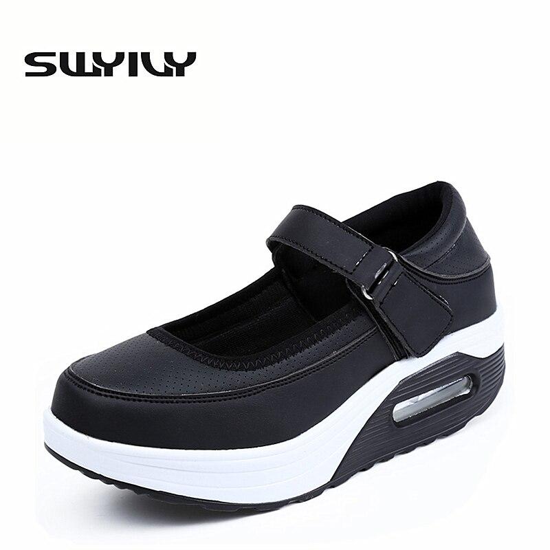 New PU Senhora Balanço Shoes Para As