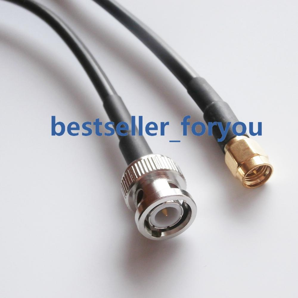 1//2//3//6ft UHF Male to UHF Male PL-259 Plug RF Straight Pigtail RG58 Coax Cable