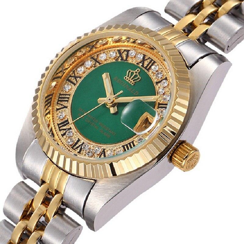 Kwaliteit REGINALD Merk Horloges Dames Top Luxe Vol Staal Diamanten - Dameshorloges - Foto 5