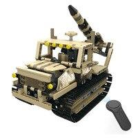 INKPOT Technic Series Remote Control Rocket Launcher Building Blocks Assemble Military Crawler Tank Bricks RC Toys for Boys