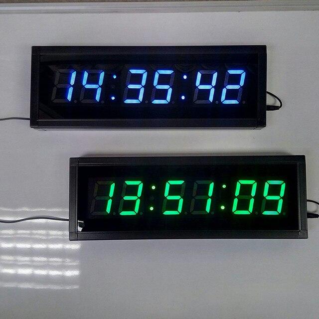 Grand 3D LED Numérique Horloge Murale Design Moderne Maison décor ...