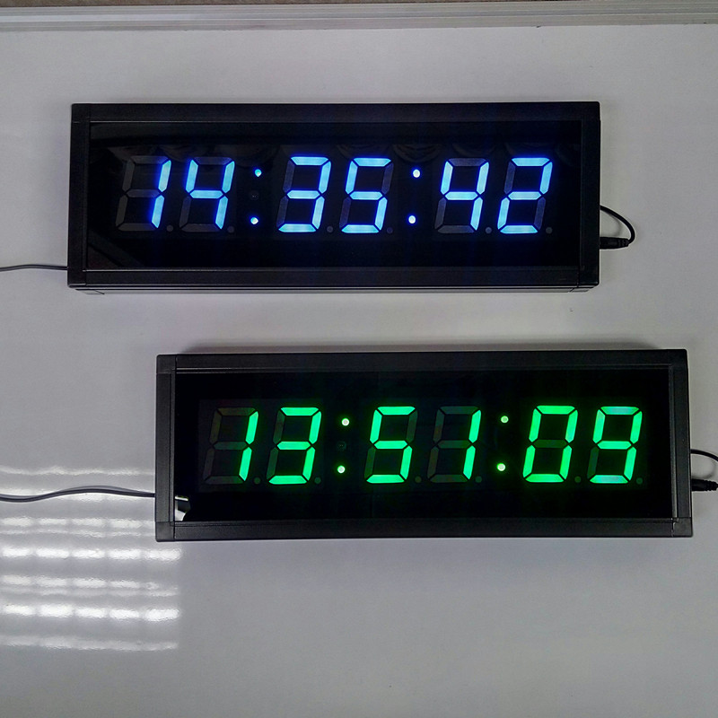 large remote 3d led digital wall clock modern design home decor big watches with countdown gym