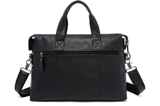купить New Genuine Leather Briefcase Bag Casual Vintage Shoulder Bag Large Capacity Business Men Messenger Bag Simple Retro HandbagL106 недорого