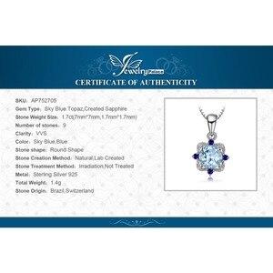 Image 5 - JewelryPalace doğal mavi Topaz kolye kolye 925 ayar gümüş taşlar gerdanlık bildirimi kolye kadınlar zinciri olmadan