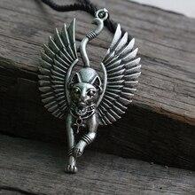 Lanseis 10 cái Mèo Bastet vòng cổ Ai Cập Cổ Đại Bastet Tượng Ai Cập Sphinx Black cat Bastet mặt dây chuyền Ai Cập cát với wing