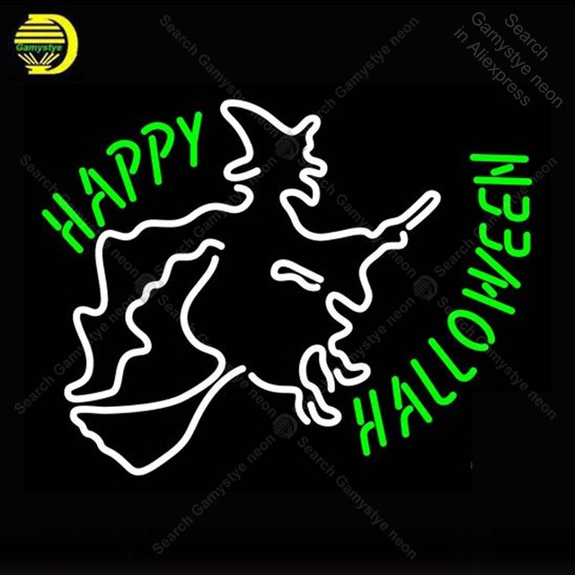 Neon Sign Happy Hallowe Neon Bulb sign handcraft restaurant Display Beer Bar neon signboard Celebrate light anuncio luminos