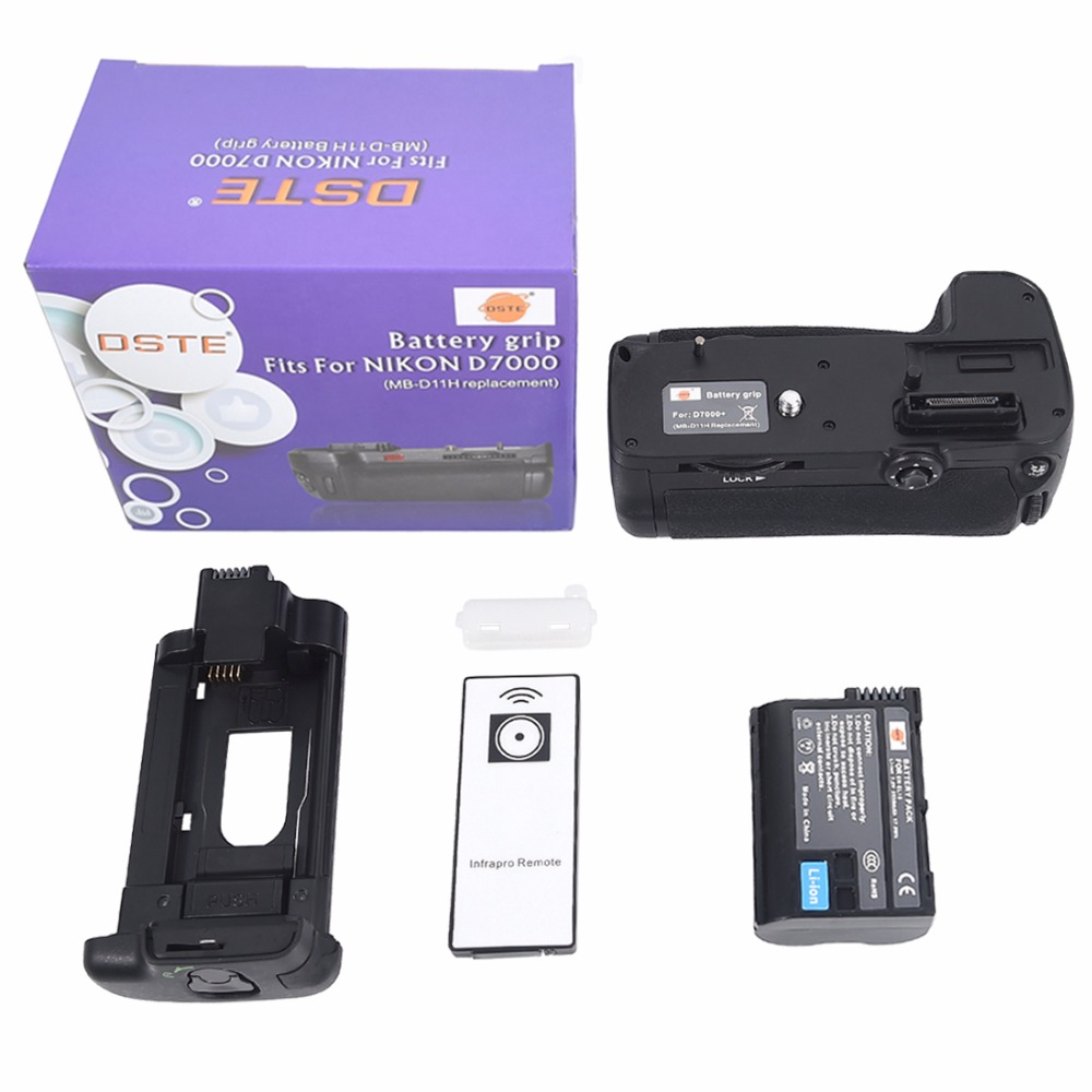DSTE MB-D11H Multi-Power Vertikale Batterie Griff für Nikon D7000 Kamera Batterie Handgriff Halter Fernbedienung Mit EN-EL15 enel15