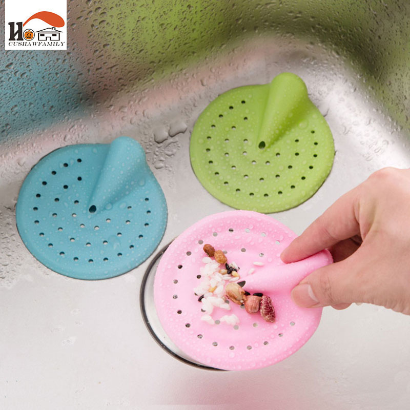 1 Pcs Candy Color Hair Catcher Bath Stopper Strainer Shower Cover Kitchen Bathroom Basin Sink Strainer Filter Drain Strainer