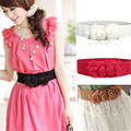 Luck Dog 1PC Women Flower Elastic Stretch Waist Belt Wide Stretch Waistbands