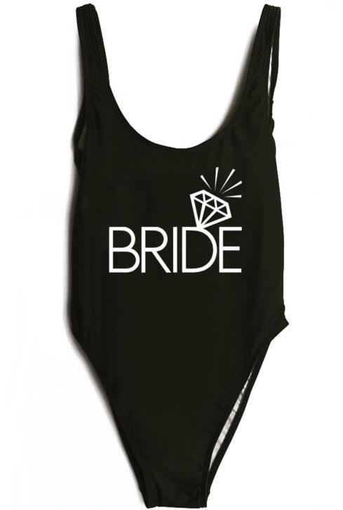 estate di un pezzo della tuta costumi da bagno diamante sposa personalizzato divertente costume da bagno beachwear pagliaccetti