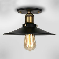 110v 220v Loft Vintage Ceiling Light Fixtures E27 One Bulbs Iron Pendant Lights Hanging Lamp Edison