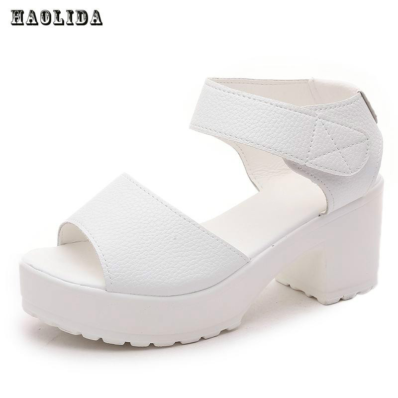 2017Summer Fashion Women Sandals Women Platform Flat Sandals Rubber Sole Women's Wedges Open Toe Sandals High-heeled Shoes Woman mudibear women sandals pu leather flat sandals low wedges summer shoes women open toe platform sandals women casual shoes
