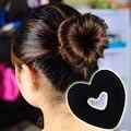 FASHION Jewelry Hair Donut Bun Heart Maker Magic Foam Sponge Hair Styling Tool Princess Tiaras Hair Accessories
