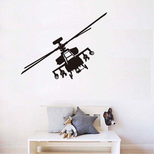 Trasporto Libero Esercito Militare Elicottero Silhouette Adesivo Art ...
