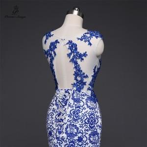 Image 4 - שירי שירים 2019New ארוך שמלת ערב vestido דה festa סקסי ללא משענת יוקרה כחול פורמליות המפלגה שמלה לנשף שמלות סין