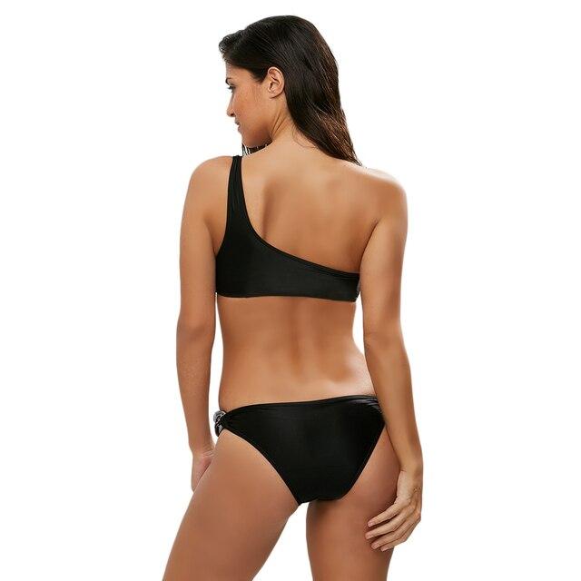 One Shoulder High Waist Swimsuit