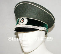WW2 GERMAN WH M36 OFFICER WOOL CRUSHER CAP IN SIZE L 31121