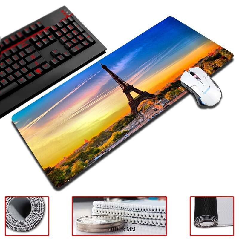 Maiyaca Frankrijk Eiffeltoren Big Size Muismat Gratis Verzending Gaming Muismat 30x60 Cm Super Grote Muis Pad Gamer Klanten Eerst