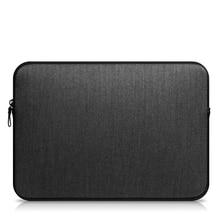 Solid zipper bolsa de ordenador portátil bolsa de la manga para macbook air 11.6 pro 13.3 15.4 retina 13.3 forro de la manga para macbook air 13 manga caso