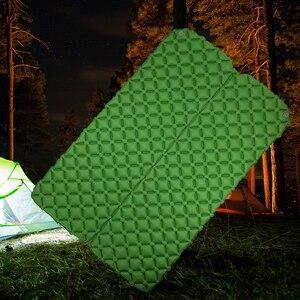 2 Человека Кемпинг мат двойной воздушный матрац кровать надувной спальный коврик с надувной воздушной сумкой