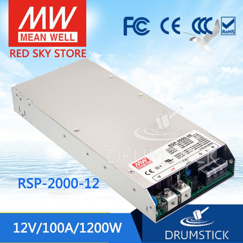 MEAN WELL RSP-2000-12 <font><b>12V</b></font> 100A meanwell RSP-2000 <font><b>12V</b></font> <font><b>1200W</b></font> Einzigen Ausgang Netzteil [Real1] image
