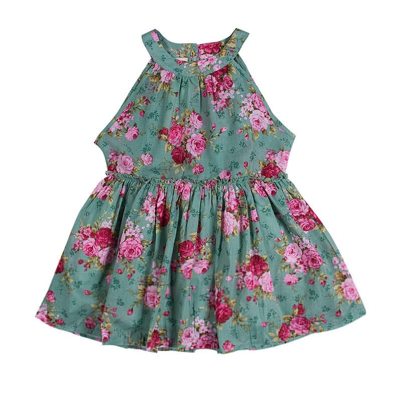 New Summer Toddler Kids Baby Girls Floral Sleeveless Princess Dress Flower Tutu Party Dresses summer kids girls tutu one piece sleeveless big bowknot party floral dress