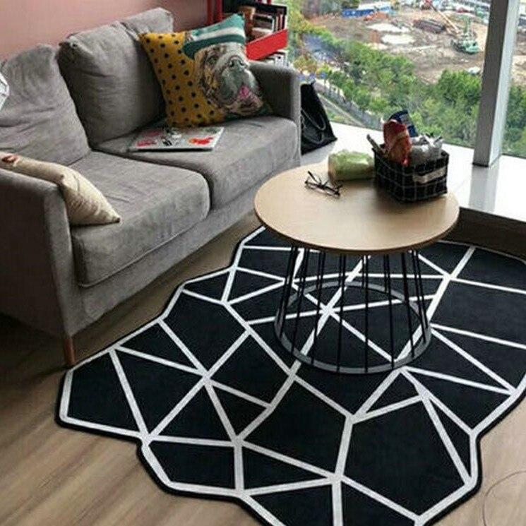 Tapis de maison géométrique moderne nordique Super doux salon chambre tapis et tapis Rectangle grande taille anti-dérapant tapis de sol