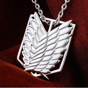 Anime Attack on Titan Scouting Legion 925 Silver Necklace Pendant - Free Shipping Wholesale недорго, оригинальная цена