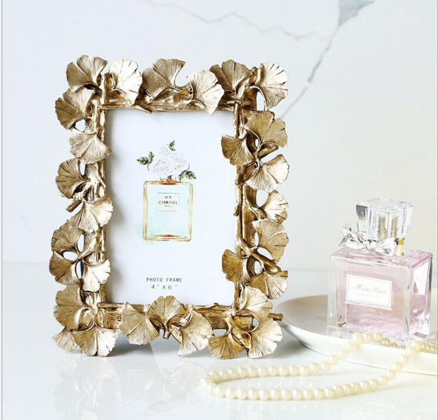 Ginkgo Leaf picture frames home decorative photo frame lady gift-in ...