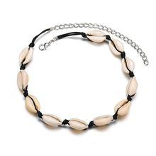 Богемное модное ожерелье в виде ракушки из веревки женское ручной