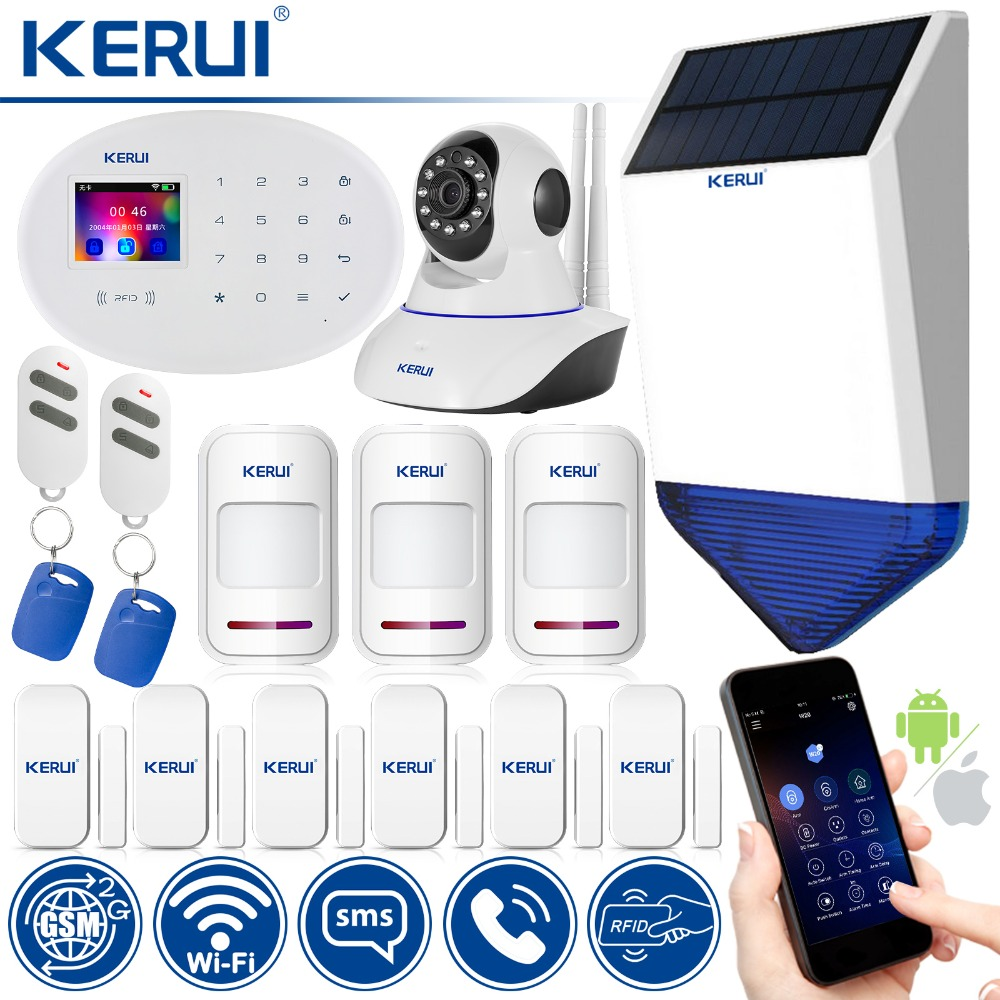 WiFi GSM Security Alarm System Classic Kit Wireless Home Security System Compatible With IP Camera And App Controlled