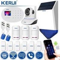 Wi Fi GSM охранная сигнализация классический комплект беспроводная домашняя система безопасности совместима с ip камерой и управляемым прилож