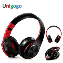 Colorful Wireless Earphone Bass Bluetooth Headphone Over-Ear Foldable Headset Handsfree dengan MIC untuk Game Ponsel Komputer