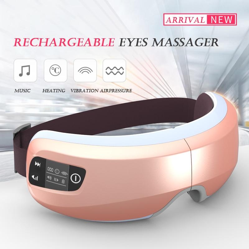 Jinkairui inteligentny ładowania bezprzewodowego MP3 masażer do oczu ochrona wizualna wibracji relaks opieki USB zdrowia oczu maszyna do pielęgnacji w Zabiegi relaksacyjne od Uroda i zdrowie na  Grupa 2