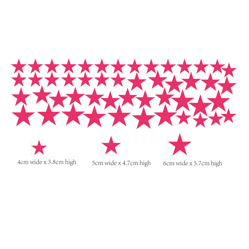 50pieces/package Mutiple Size Star Wall Sticker Art Gold Star Decals Removable Stars Baby Nursery Decor Stars Wall Stickers P2-C