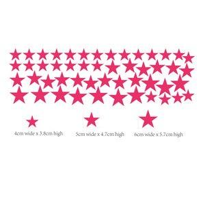 Image 5 - Autocollant mural étoile multi taille 50 pièces/paquet