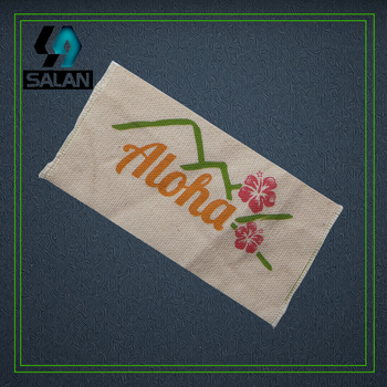 Two colors cotton printed tags custom cotton clothing labels Zakka Label Ribbon Sewing tape 100% cotton ribbonnature style фото