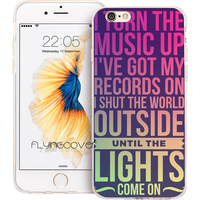 Coque Coldplay Song Lyrics Capa Soft TPU Silicone Phone Cover For IPhone 7 7Plus Case For