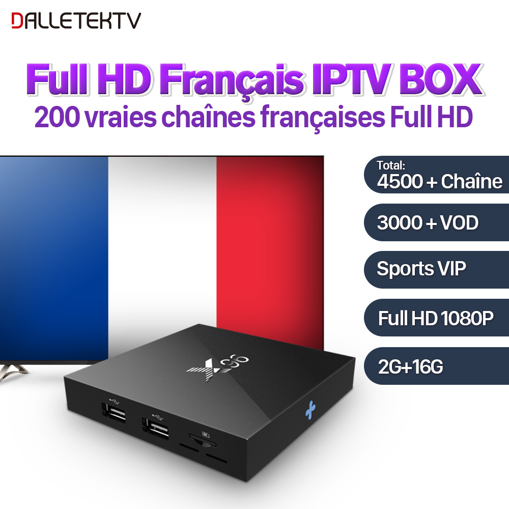 IPTV French X96 Android 7.1 TV BOX Quad Core Amlogic S905W 2GB 16GB 1 Year SUBTV IPTV Abonnement Europe French Arabic IPTV Box amlogic s905w quad core android 7 1 tv box tx3 mini 2gb 16gb 1 year qhdtv pro account subscription europe french arabic iptv box