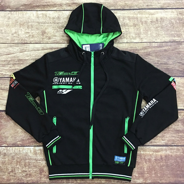 5d5f0a9a1 Windproof mens motorcycle hoodie racing moto riding hoody clothing jackets  men cross Zip jersey sweatshirts coat YAMAHA M1 -in Jackets from  Automobiles ...