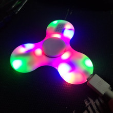 2017 New LED MINI Bluetooth Speaker Music Fidget Spinner EDC Small Hand Spinner For Autism And Kids/Adult Funny Fidget Toy